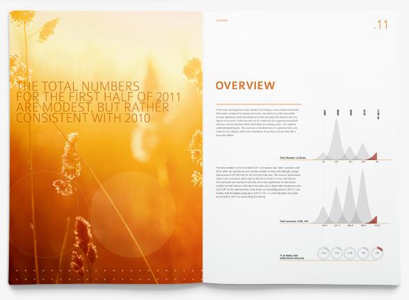 Cleantech Scandinavia rapport trycksak layout uppslag