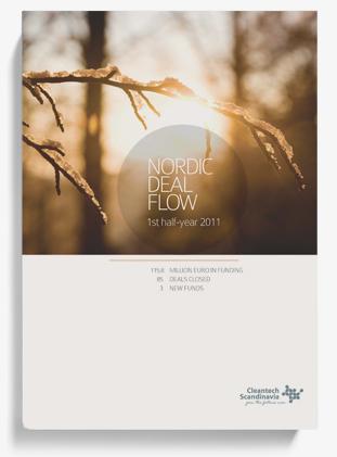 Cleantech Scandinavia rapport trycksak layout
